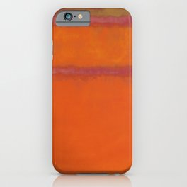 Orange Red and Yellow - Mark Rothko iPhone Case