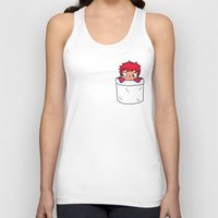 ponyo Tank Tops featuring Ponyo in a pocket by Samtronika