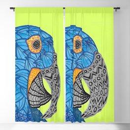 Macaw Azul Guacamaya Blackout Curtain