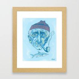 Cousteau. Framed Art Print