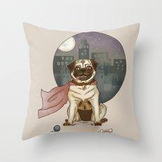 Super pug! Throw Pillow