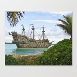 Pirate ship in the Caribbean Canvas Print