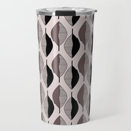 Mauve & black leaves Travel Mug