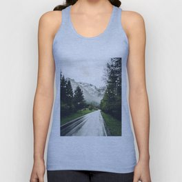 Down the Road - Mountains, Forest, Austria Unisex Tank Top
