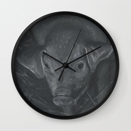 Piggie 2 Wall Clock