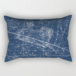 Aries sky star map Rectangular Pillow