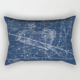 Aries sky star map Rectangular Pillow