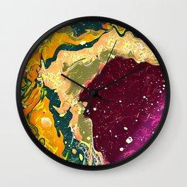 Sulfur Pool Wall Clock