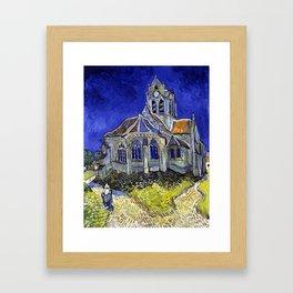 Vincent Van Gogh The Church in Auvers Framed Art Print