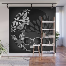 Afro Diva : Sophisticated Lady Black & White Wall Mural