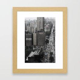 Concrete Trails Framed Art Print