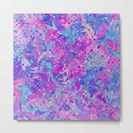 Blue and Pink Abstract Pattern Metal Print