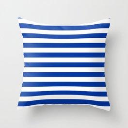 Princess Blue Beach Hut Horizontal Stripe Fall Fashion Throw Pillow