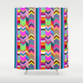 Striped Kilim in Warm Multi Shower Curtain