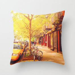 Autumn - East Village - New York City Throw Pillow