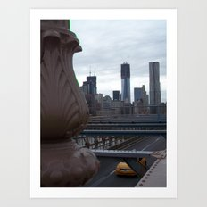 Brooklyn Bridge, New York City, Structural Architecture, Manhattan, NYC, Skyline Art Print