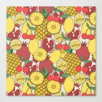 fruit Canvas Prints featuring Fruit by Valendji