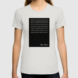 While I Know Myself Quote Art Design Inspirationa T-shirt