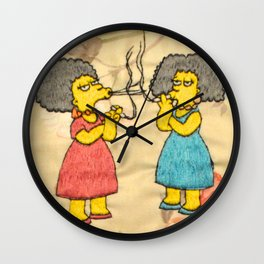 Patty and Selma - The Simpsons  Wall Clock