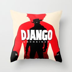 Django Unchained Poster Throw Pillow