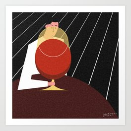 Lonely Friday at the Bar Art Print