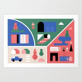 City Map Fragment VII Art Print