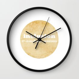 Great for all occassions Inclusion Tee It's everybody's classroom Wall Clock