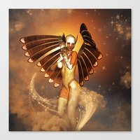 angel Canvas Prints featuring Angel by nicky2342
