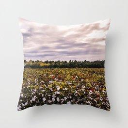 Cotton Field 23 Throw Pillow