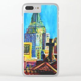 The City Never Dies Clear iPhone Case