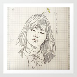 chicka yoongi Art Print