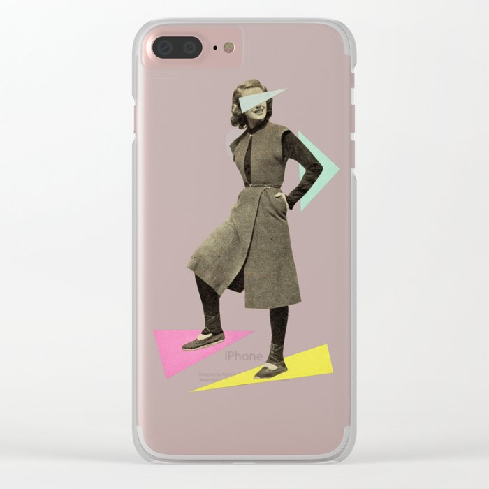 Shapely Figure Clear iPhone Case