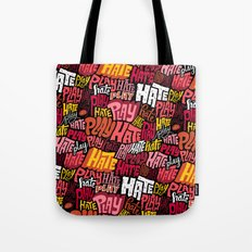 Play/Hate Pattern Tote Bag
