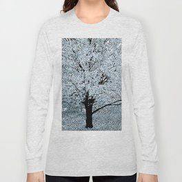 TREES WHITE ABSTRACT Long Sleeve T-shirt