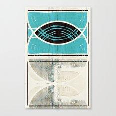 « bleu turquoise » Canvas Print