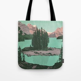 Jasper National Park Poster Tote Bag
