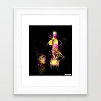 vodka Framed Art Prints featuring Vodka Illustration by Apothec