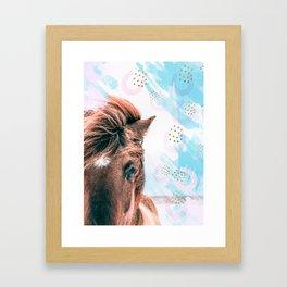 Horse horseshoes Framed Art Print
