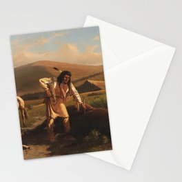 Buffalo Hunt by William de la Montagne Cary Stationery Cards