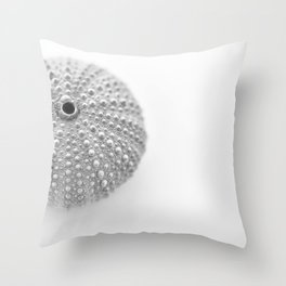 Urchin Black and White Throw Pillow