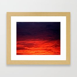 granular sunrise Framed Art Print