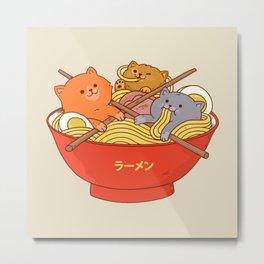 Ramen cats Metal Print