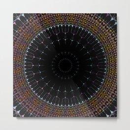 Glowing Mandala Art Metal Print