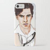 cumberbatch iPhone & iPod Cases featuring Benedict Cumberbatch by Alisha Henry