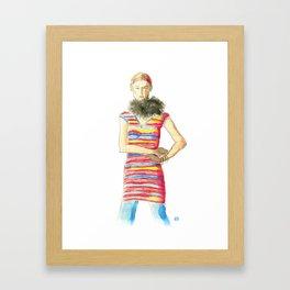 Striped Dress Framed Art Print