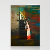 arab Stationery Cards featuring Burj Al Arab by Christine Becksted Images
