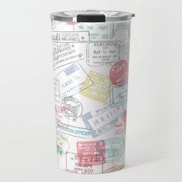 Passport Stamps Travel Mug