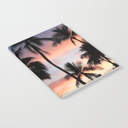 Tropical Palm Trees Sunset in Mexico Notebook