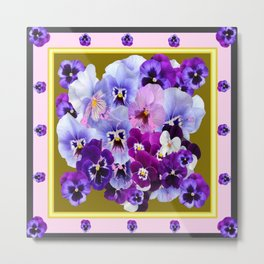 COLORFUL SPRING  PANSIES GARDEN COLLECTION Metal Print