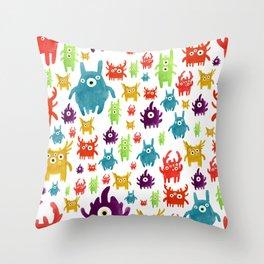 Cute little creatures Throw Pillow